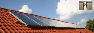Zonnecollectoren op het dak